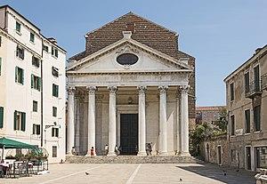 Tolentini, Venice - Facade on Campo dei Tolentini.