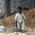Child near renovation of Jawaharlal Nehru Stadium in New Delhi 2010-03.jpg