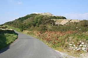 Lansalson branch line - China Clay Waste Tip on Trenance Downs
