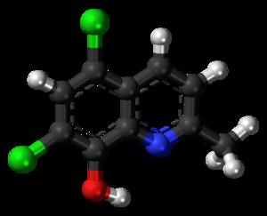 Chlorquinaldol - Image: Chlorquinaldol 3D ball