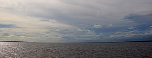 Choctawhatchee Bay - Looking westward onto Choctawhatchee Bay from the Clyde B. Wells Bridge (US Highway 331.)