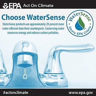 EPA WaterSense - EPA poster publicizing WaterSense products