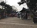 """Chozuya """"Tamanoi"""" and South Gate of Daikai Shrine in Sumiyoshi Grand Shrine.jpg"""