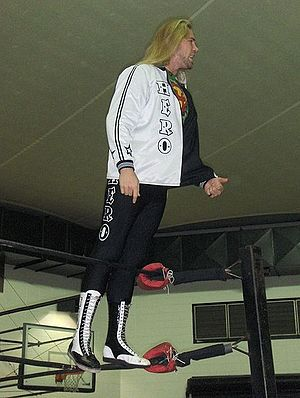Chris Hero - Hero making his ring entrance in 2008