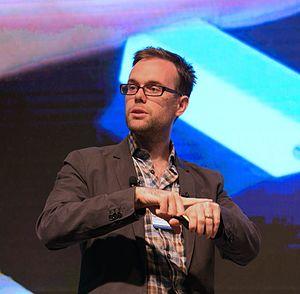 Chris Harrison (computer scientist) - Image: Chris Harrison presenting smartwatches
