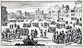 Christelijke gevangenen worden op een plein te Algiers als slaaf verkocht, Jan Luyken, 1684.jpg