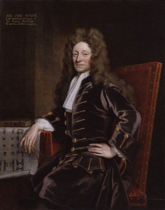 Savilian Professor of Astronomy - The architect Christopher Wren (painted here by Sir Godfrey Kneller in 1711) was astronomy professor from 1661 to 1673.