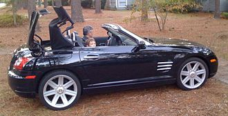 Karmann - Chrysler Crossfire convertible top in operation