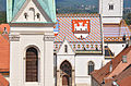 Church of St. Mark and Coat of arms of Zagreb on southern roof (13024345783).jpg