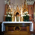Church of the Sacred Heart (Coshocton, Ohio) - side altar and tabernacle.JPG