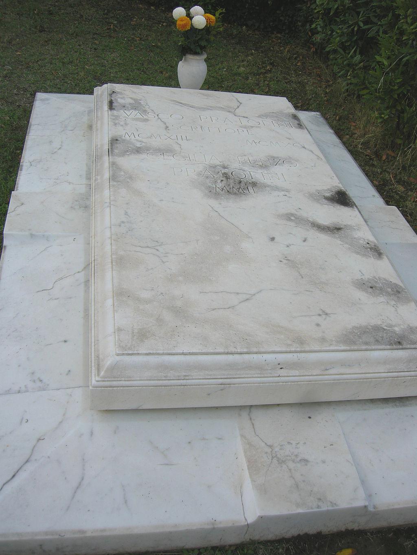 Cimitero delle porte sante, tomba di Vasco Pratolini