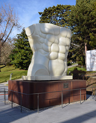 Miguel Ortiz Berrocal - Citius, Altius, Fortius, at the entrance to the Olympic Museum in Lausanne