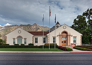 National Register of Historic Places listings in Utah County, Utah - Image: City hall of alpine utah