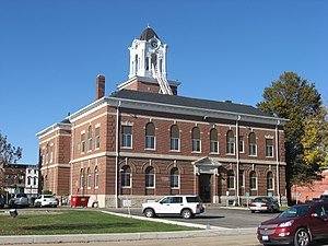 Clark County, Illinois - Image: Clark County Courthouse in Marshall, southwestern angle