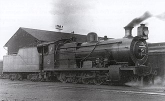 South African type TJ tender - Image: Class 1A no. 1300 & Type TL