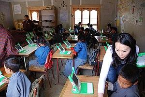 Class room in a Thimpu school