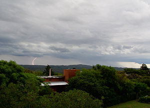 Climate of Argentina - Thunderstorm in Córdoba Province during summer