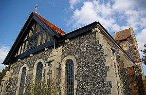 Stuntney - Image: Closeup of Holy Cross Church in Stuntney geograph.org.uk 394378