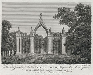 Clytha Gateway: To William Jones Esqr, this view of Clytha Gateway, engraved at his expence is inscribed by his obliged servant W. Coxe