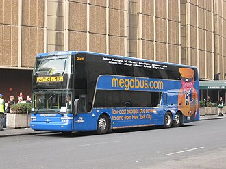 Megabus (North America) - Van Hool TD925 coach at Penn Station in March 2009