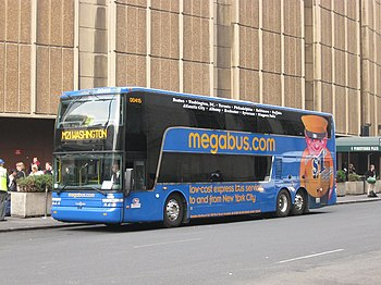 English: Coach USA Megabus.com Van Hool TD925 ...