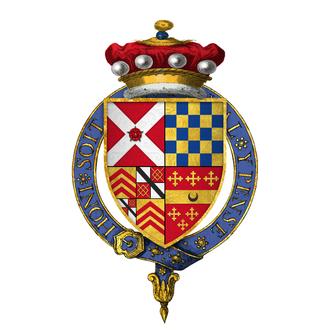 George Nevill, 5th Baron Bergavenny - Image: Coat of arms of Sir George Nevill, 5th Baron Bergavenny, KG