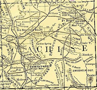 Cochise County in the Old West - Cochise County in 1881, at the beginning of the region's silver boom