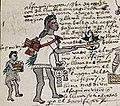 Codex Mendoza 63r priest with sacrificial requisites.jpg
