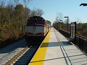 Greenbush Line - A train at Cohasset station in October 2007