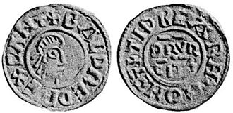 Baldred of Kent - Coin of Baldred, minted at Cantebury.