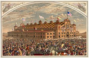 World's Peace Jubilee and International Musical Festival - World's Peace Jubilee coliseum, Back Bay, Boston, 1872