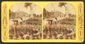 Colorized view of the Public Gardens showing two women with a stoller, from Robert N. Dennis collection of stereoscopic views.png