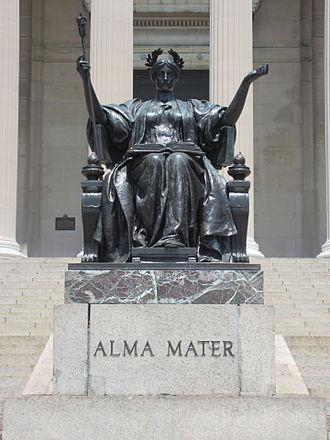 Alma mater - Alma Mater statue by Daniel Chester French, Columbia University, New York City