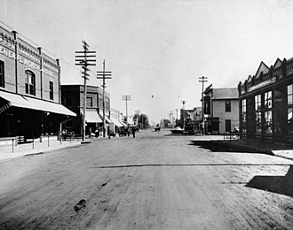 Compton, California - Main Street of Compton, 1914