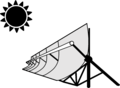 Concentrated solar power - concentrated solar thermal icon.png