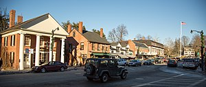 Concord, Massachusetts - View of Concord's Main Street in December