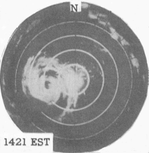 Hurricane Connie - Image: Connie 1955HATradar