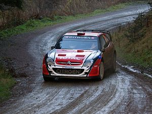Special stage (rallying) - Conrad Rautenbach during the 2007 Rally GB.