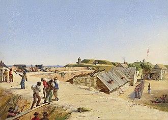 Conrad Wise Chapman - Image: Conrad Wise Chapman Battery Marshall, Sullivan's Island, Dec. 4, 1863