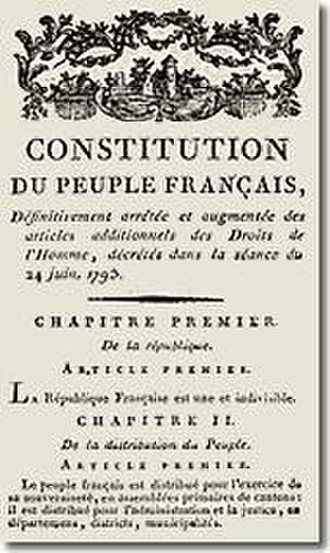 National Convention - Constitution du Peuple Française du 6 Messidor l'an I (24 June 1793)
