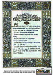 The Constitution of India is the longest written constitution for a country, containing 444 articles, 12 schedules, numerous amendments and 117,369 words.