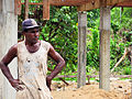 Construction worker on a building site in Tulaghi, Central Province. (10690383443).jpg
