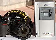 Nikon D200 SLR with Nikon film scanner, which converts film images to digital