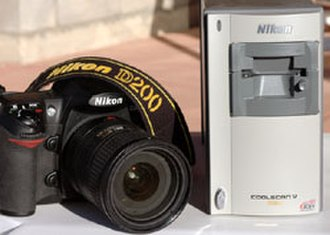 Film scanner - Nikon Coolscan V ED 35mm film scanner (right)