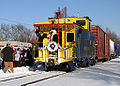 Coopersville and Marne Railway - Santa Train arrives in Sparta.jpg