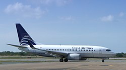 Copa Airlines Boeing 737 at Punta Cana (edited).jpg