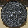 Copper alloy mirror, Iran or Turkey, 14th century, Honolulu Academy of Arts.JPG