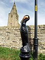Cormorant bollard at Church Point, Newbiggin by the Sea - geograph.org.uk - 1452061.jpg