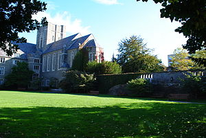 Cornell Law School - Interior of Cornell Law School quad
