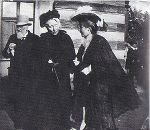 Marie von Schleinitz - Cosima Wagner with Count and Countess Wolkenstein at the Bayreuth Festival, 1880s